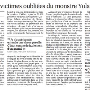 Les oubliés du monstre Yolanda
