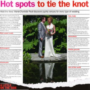 Hot Spots to Tie the Knot